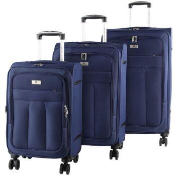28-214735, 4 Rollen Koffer Set, 3-teillig, Farbe: blau