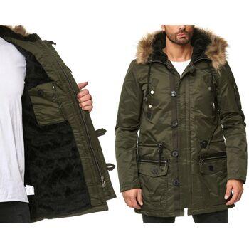 new style daf55 04ed0 Herren Men Trend Jacke Mantel Winterjacke Steppjacke Outdoorjacke Kapuze  mit Fell Langarm Jacken Oberteile Winter - 24,90 Euro