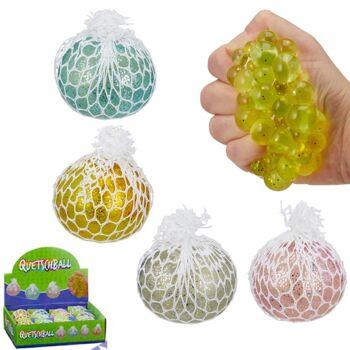 28-645240, Antistressball mit Glitzer, Quetschball, Knetball, Knautschball