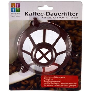 28-902008, Dauerkaffeefilter, für gängige Kaffeemaschinen geeignet, Kaffee Dauerfilter