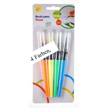 28-988559, Pinselstift 4er Pack, zum Malen, 4 Farben