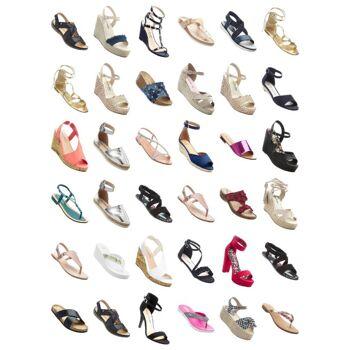 Damen Schuhe Sommerschuhe Sandaletten Zehentrenner Pantoletten Sandalen Espadrilles Sommer Mix