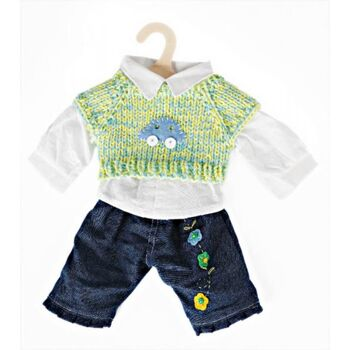 Puppen-Jeans/Bluse/Pullunder 35-45cm., 1 Stück