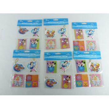 12-603056, Disney Geschenkanhänger 4er Pack, Geschenkkärtchen (PAZ 1,19)