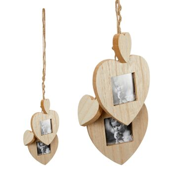 17-64119, Holz Bilderrahmen Hänger Herz  45 cm