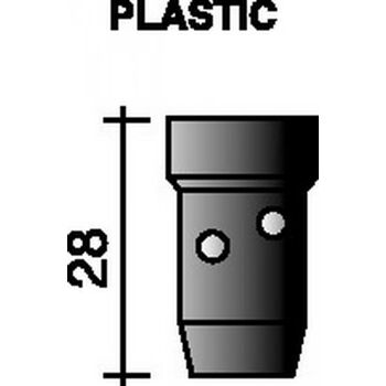 Gasverteiler Standard, schwarz, L.28mm für Ergoplus 400/500