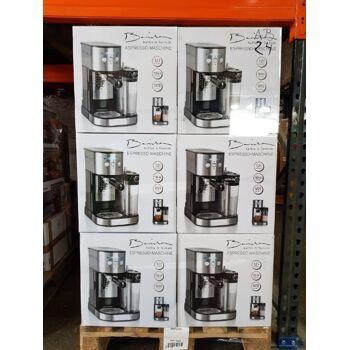 BARISTA Espresso-Maschine Edelstahl/schwarz 1470 Watt