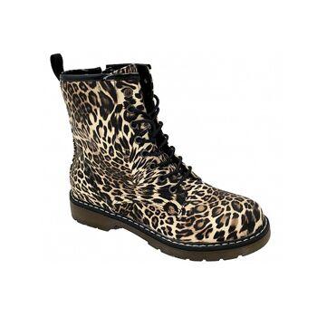 lowest price 139df 1d2ec Damen Trend Stiefeletten Outdoor Boots Leopard Look Stiefel Halbstiefel  Schnür Schuhe Herbst Winter Schuh Shoes Freizeit - 15,90 Euro
