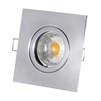 50x LED Einbauleuchte Deckeneinbauleuchte Einbaurahmen Umbriel Chrom ROSTFREI