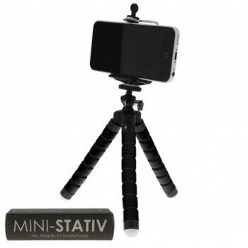 10-986710, Mini Stativ für Smartphone, individuell verstellbar und einsetzbar, kompatibel für alle Geräte mit  IOS und ANDROID