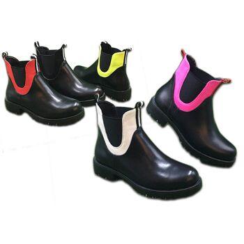 Damen Trend Stiefeletten Bunt Streifen Outdoor Boots Stiefel Halbstiefel Schuhe Herbst Winter Schuh Shoes Freizeit - 19,90 Euro