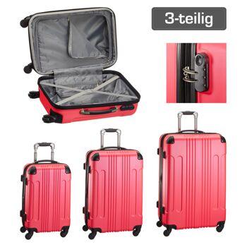 17-41603, Trolley Kofferset 3-teilig, pink