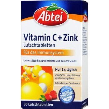 Abtei Vitamin C + Zink Lutschtabletten