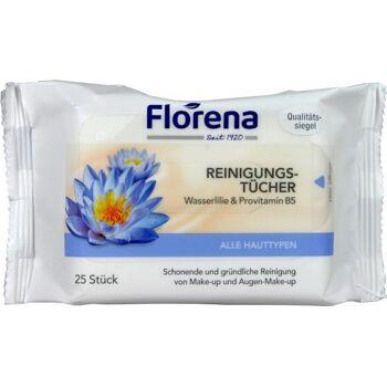 Florena Gesicht Reinigungstücher Wasserlilie