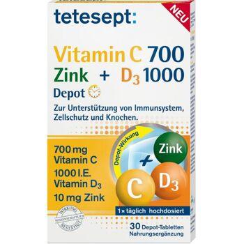 Tetesept Vitamin C 700 + Zink 9 D3 1000