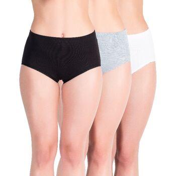 yenita® Damen Taillenslips mit Tunnelbund im Farbmix