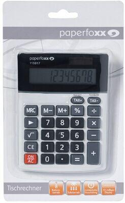 12-115917, Tischrechner Metalloberfläche Paperfoxx, Taschenrechner
