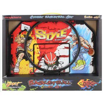 21-5477, Basket Spielset 42 x 32,5 cm, inklusive Gummiball, Pumpe