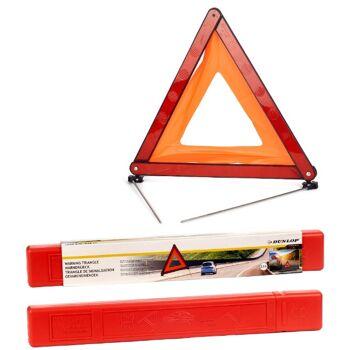 28-058146, DUNLOP Auto Warndreieck faltbar, vier ausklappbare Metallfüße