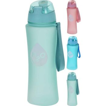 28-392135, Trinkflasche 650 ml, Deckel mit Silikonstopfen, mit Handschlaufe, Sportflasche