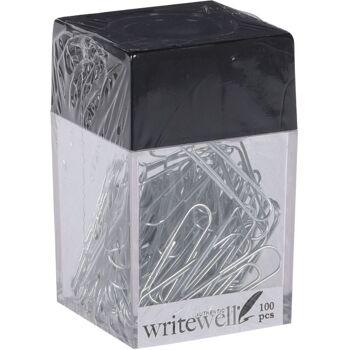 28-397321, Büroklammern 100er in Kunststoffbox mit Magnetdeckel