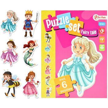28-423570, Puzzle-Set Märchen mit 6 Puzzle