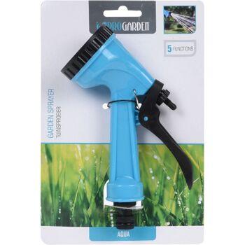 28-438659, Gartenschlauch-Brause, mit 5 Funktionen - unterschiedliche Wasserdurchflusseinstellungen