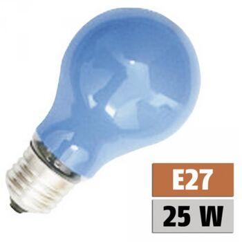 Glühlampe PHILOS A60 Speziallampe E27, 230V, 25W, stossfest, blau