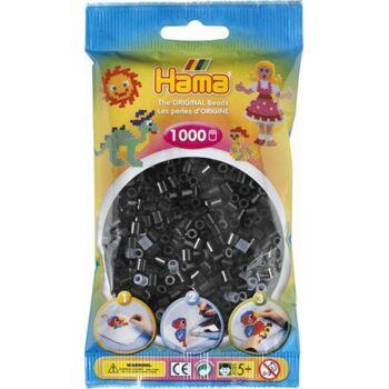 HAMA-Perlen SCHWARZ 1000 Stück, 1 Beutel