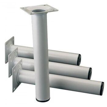 Möbelfuß weißalu.,RAL 9006, 30 mm H.500 mm, 4 er set