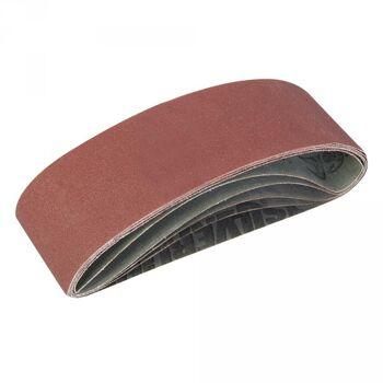 Schleifbänder, 75x533 mm, 5-tlg. Satz, Körnung: sortiert