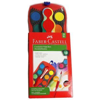 12-125030, Faber Farbkasten CONNECTOR 12 Farben D 6+  FABER CASTELL
