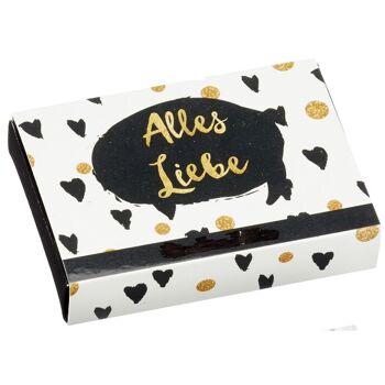 28-653924, Geldgeschenke- und Wunscherfüller Box in eleganten schwarz-goldenem Design