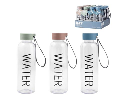 28-752248, Trinkflasche 500ml mit fabigem Deckel und Handschlaufe, Wasserflasche