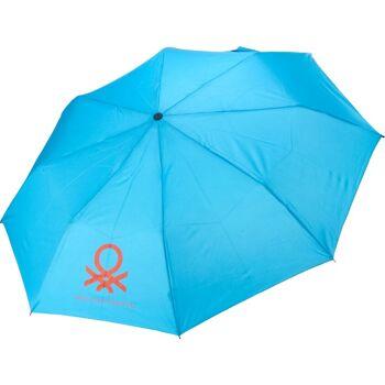 28-855031, Benetton Automatik Regenschirm, Taschenschirm mit Öffnungsautomatik