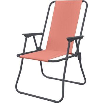 28-894320, Klappstuhl Metall, Campingstuhl, Gartenstuhl, klappbarer Stuhl