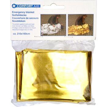 28-898582, Rettungsdecke 160 x 210 cm, Gold/Silber, schützt vor Kälte, Hitze, Nässe