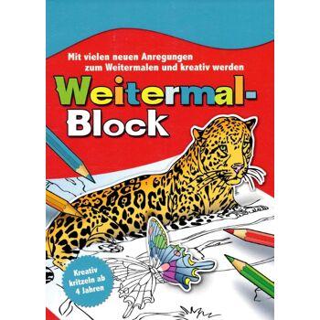 12-904694, Weitermalblock, mit vielen Anregungen, Weitermal Block