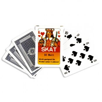 10-552200, Skatspiel 32 Blatt, französisches Bild, Glanz Karton Karten, Stabile Qualität
