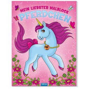 28-102506, Malblock Glitzersteine Pferdchen, 12 Blatt, Verlag Trötsch SONDERPOSTEN PAZ 2,50 EURO