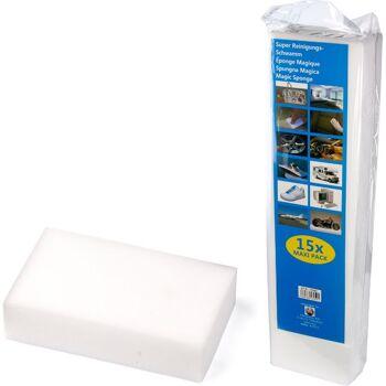 28-130591, Schmutzradierer 15er Pack, Magic Schwamm, praktische Schmutzradierer für leichte Entfernung von Schmutz und Flecken