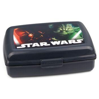 28-274487, Star Wars Lunchbox, Brotbüchse, Butterbrotdose, ideal für Schule, Kindergarten, usw