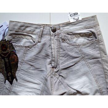 KINGZ Jeans Hose Grau Marken Jeans Hosen 21031400
