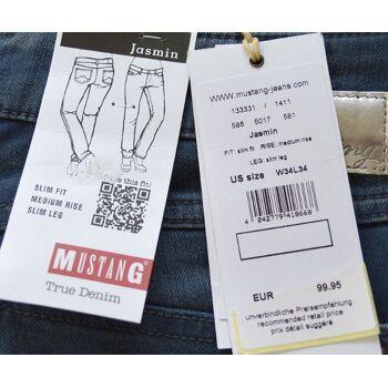 Mustang Jasmin True Denim Damen Jeans hosen Slim Fit Medium Rise 3-1419