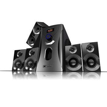 Auvisio Surround-Sound-System 5.1 Home-Theater, 160 Watt, MP3, Radio, schwarz, Lautsprecher Subwoofer Kompaktanlage, Stereoanlage, Subwoofer