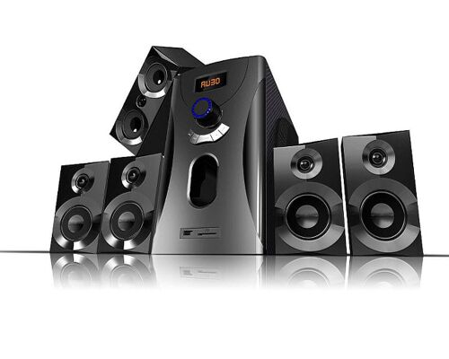 Auvisio Surround-Sound-System 5.1 Home-Theater, 160 Watt, MP3, Radio, schwarz, Lautsprecher Subwoofer Kompaktanlage, Stereoanlage, Subwoofer