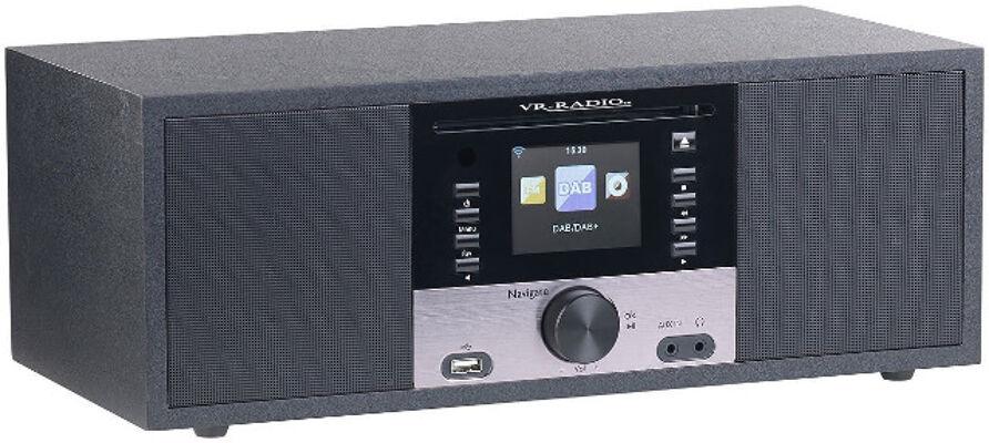VR-Radio IRS-700 WLAN Internetradio mit CD-Player, Stereo, DAB+/FM, Farbdisplay, Wecker, 32 W
