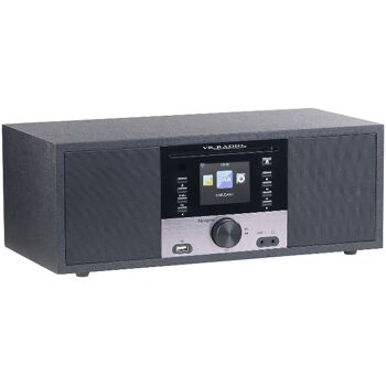 VR-Radio IRS-700 WLAN Internetradio mit CD-Player, Stereo, DAB+/FM, Farbdisplay, Wecker, 32 W