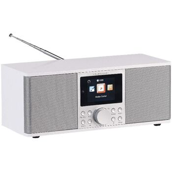 VR-Radio IRS-670 DAB+ Internetradio weiß, Stereo, FM, Bluetooth & Wecker, 32 Watt, Radiowecker