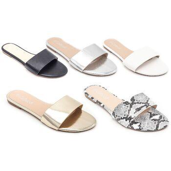 Damen Woman Sommer Trend Slipper Strandschuh Slip on Slippers Schuh Shoes Sommer Freizeit - 8,90 Euro